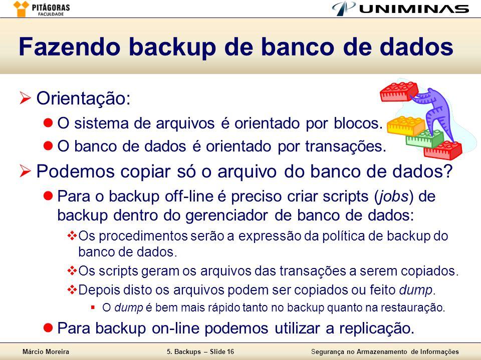 Fazendo backup de banco de dados