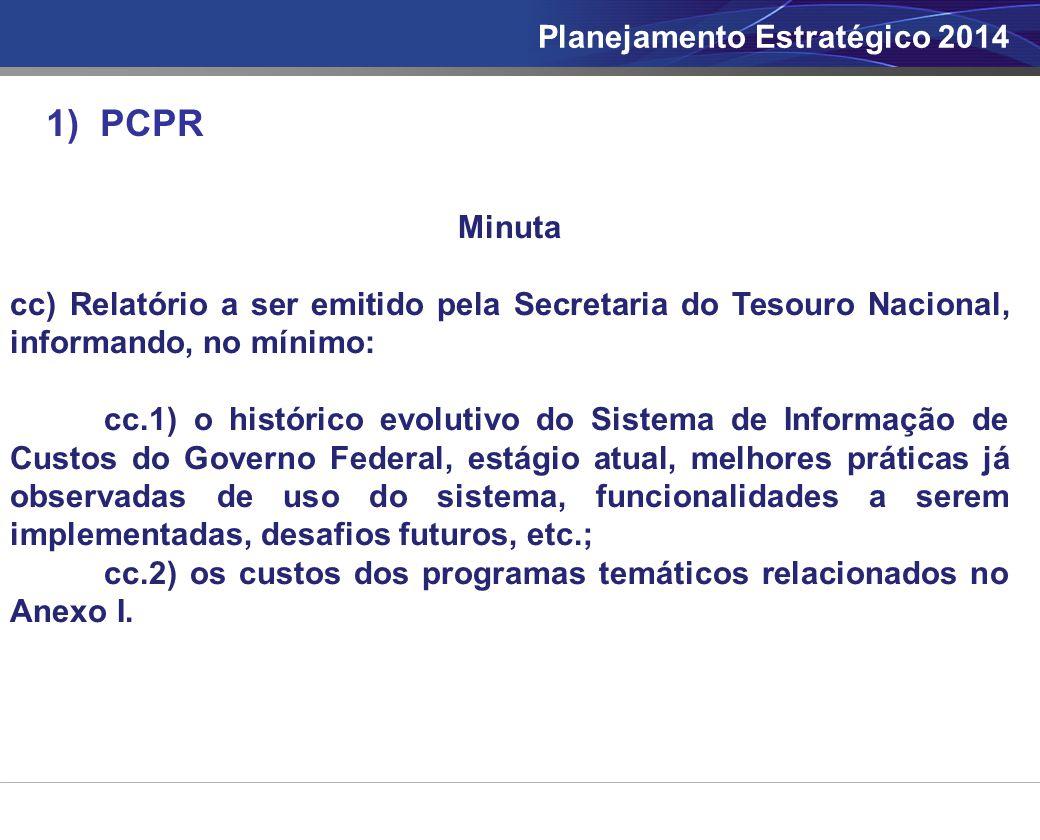 1) PCPR Planejamento Estratégico 2014 Minuta