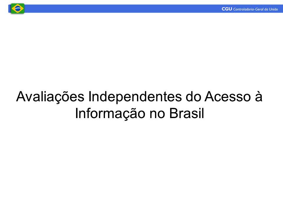 Avaliações Independentes do Acesso à Informação no Brasil