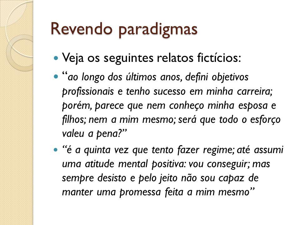 Revendo paradigmas Veja os seguintes relatos fictícios: