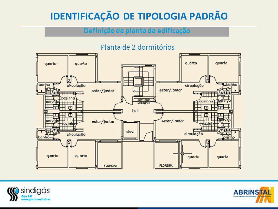 IDENTIFICAÇÃO DE TIPOLOGIA PADRÃO Definição da planta da edificação