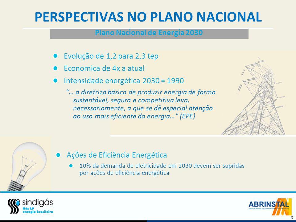 PERSPECTIVAS NO PLANO NACIONAL Plano Nacional de Energia 2030