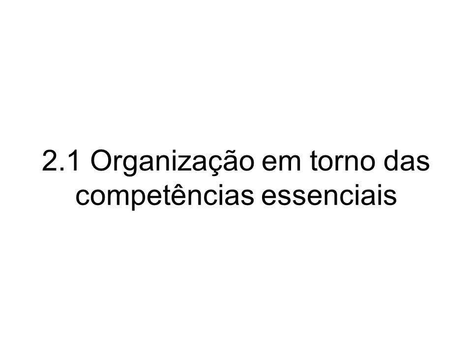 2.1 Organização em torno das competências essenciais