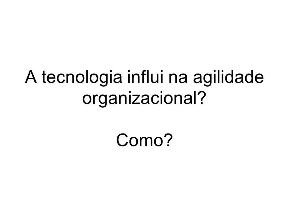 A tecnologia influi na agilidade organizacional Como