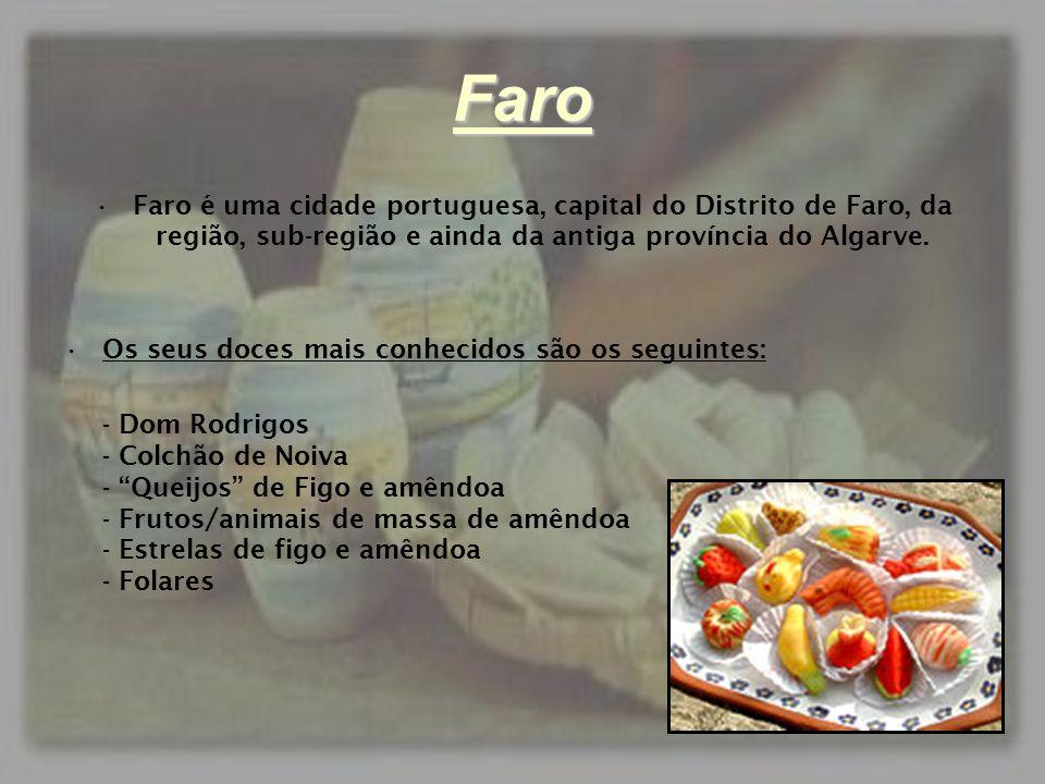 Faro Faro é uma cidade portuguesa, capital do Distrito de Faro, da região, sub-região e ainda da antiga província do Algarve.