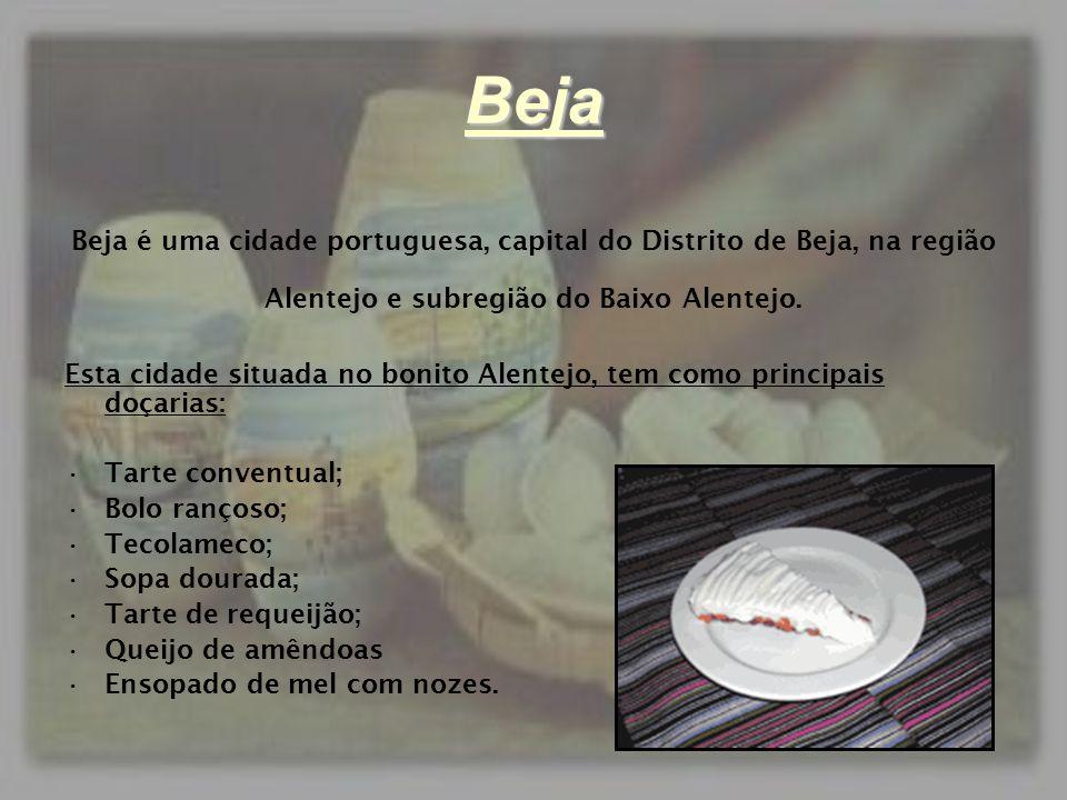 Beja Beja é uma cidade portuguesa, capital do Distrito de Beja, na região. Alentejo e subregião do Baixo Alentejo.