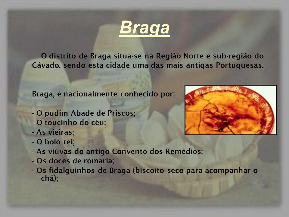 Braga O distrito de Braga situa-se na Região Norte e sub-região do