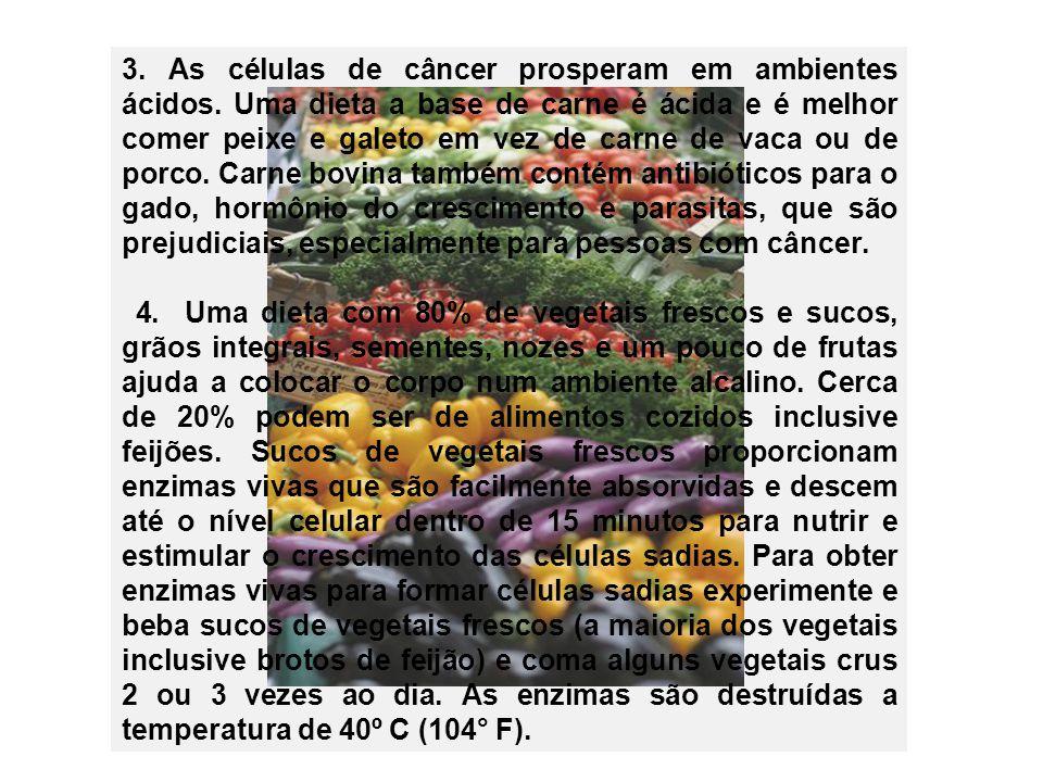 3. As células de câncer prosperam em ambientes ácidos