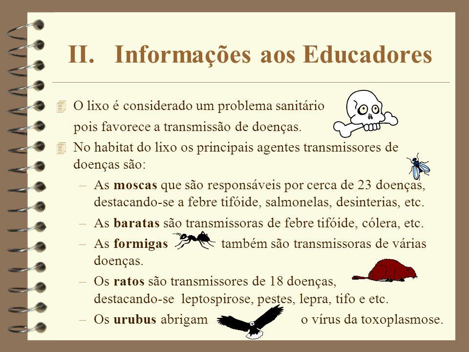 II. Informações aos Educadores