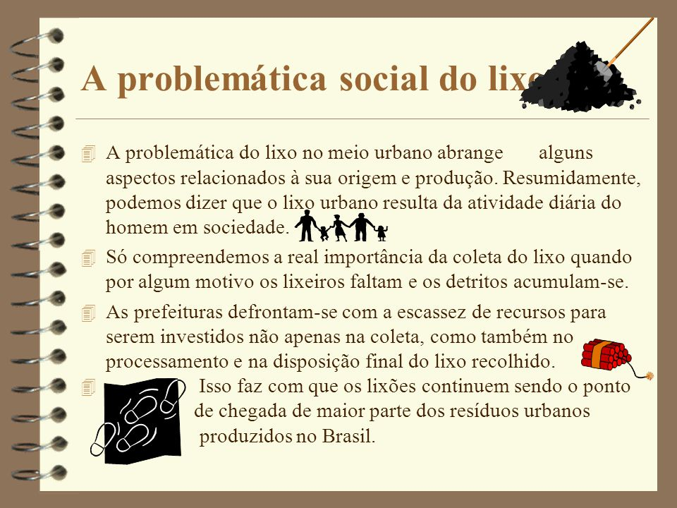 A problemática social do lixo