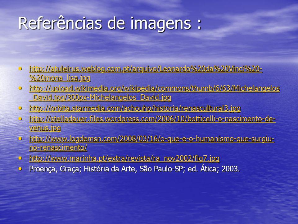 Referências de imagens :