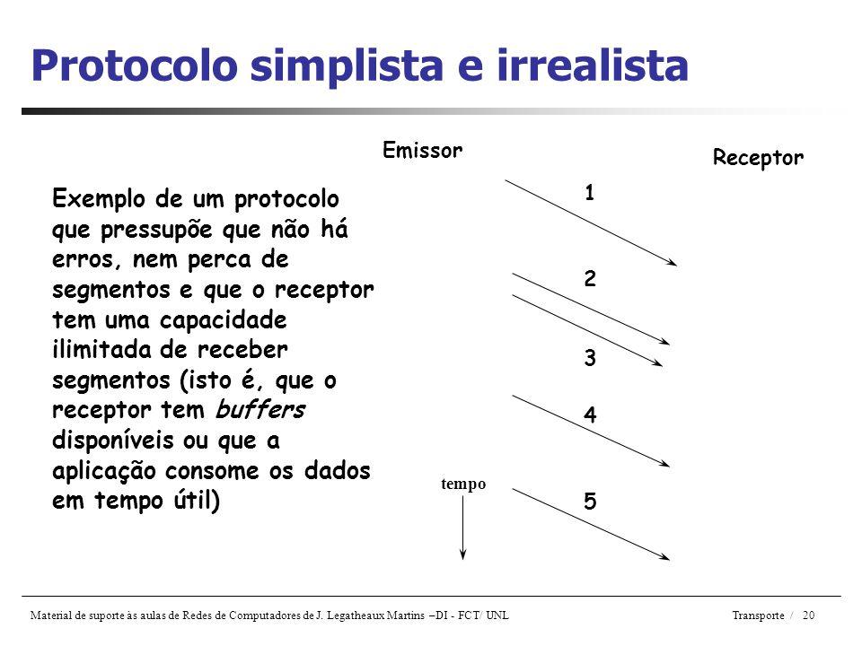 Protocolo simplista e irrealista