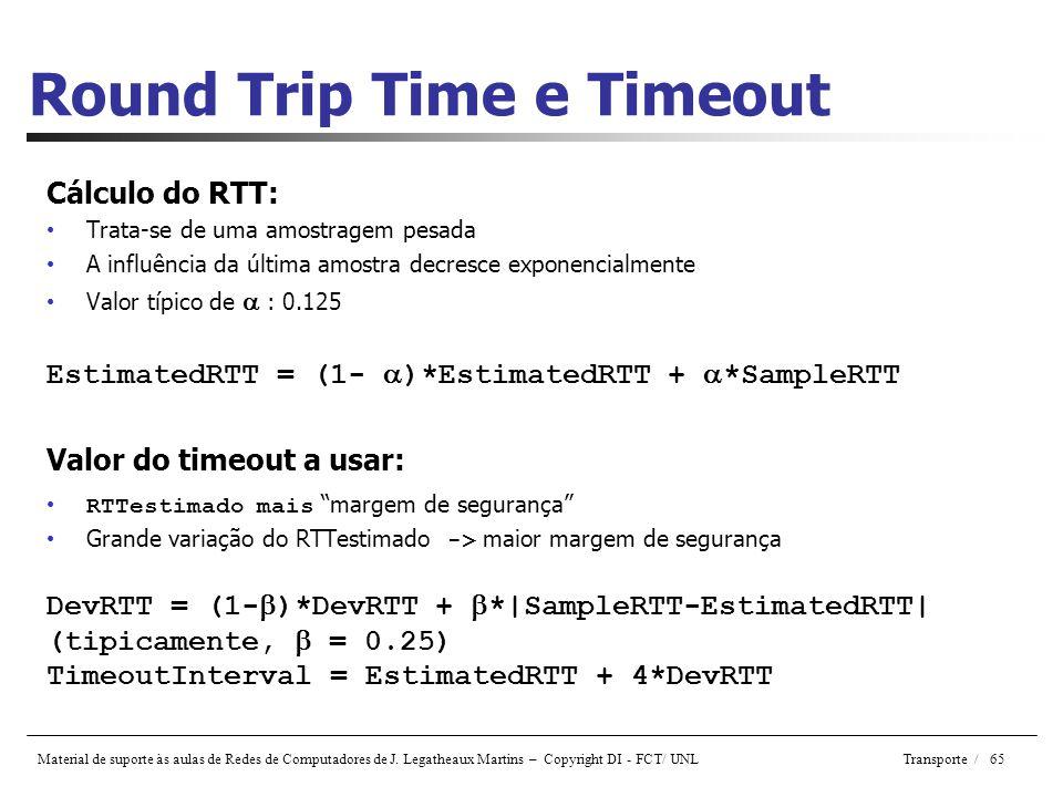 Round Trip Time e Timeout