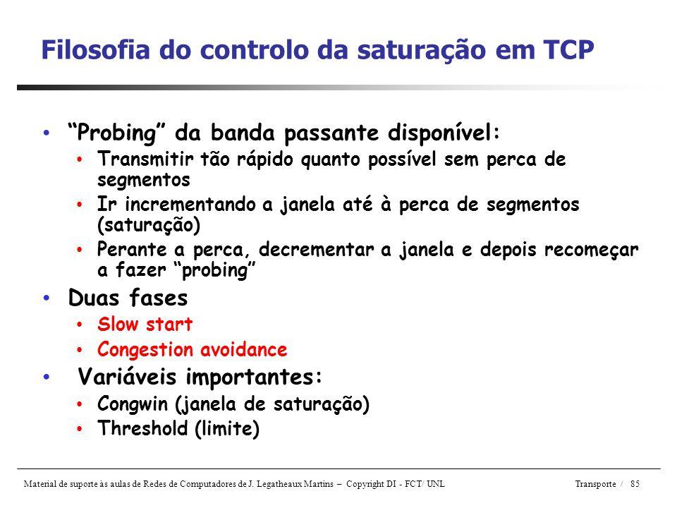 Filosofia do controlo da saturação em TCP