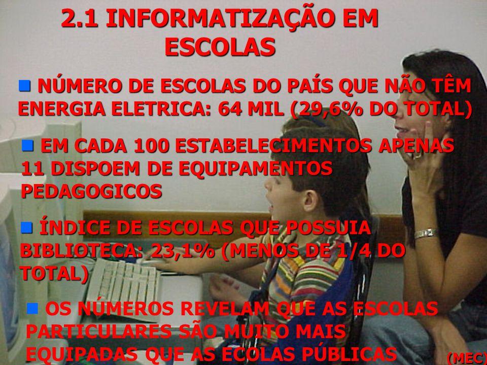 2.1 INFORMATIZAÇÃO EM ESCOLAS