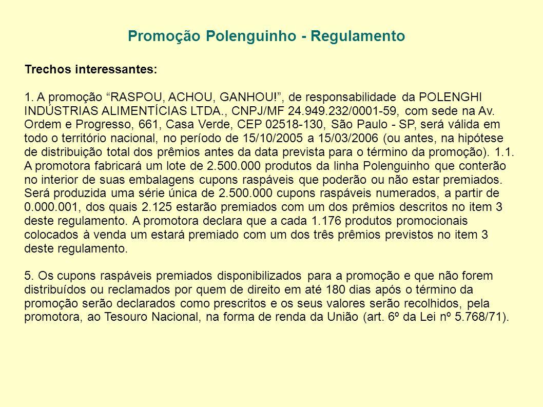 Promoção Polenguinho - Regulamento