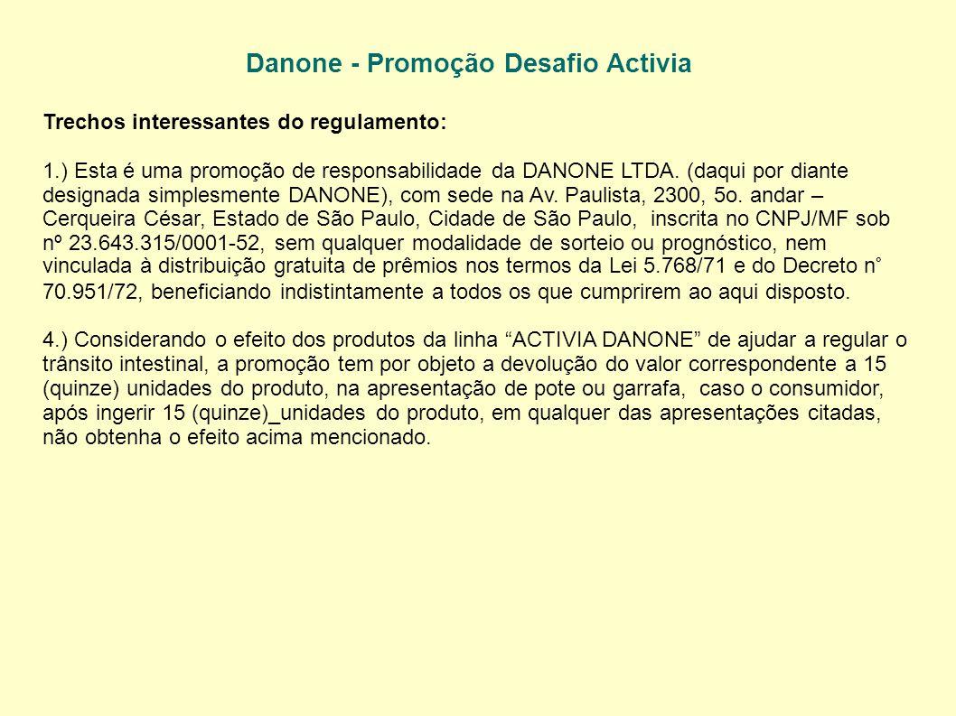 Danone - Promoção Desafio Activia