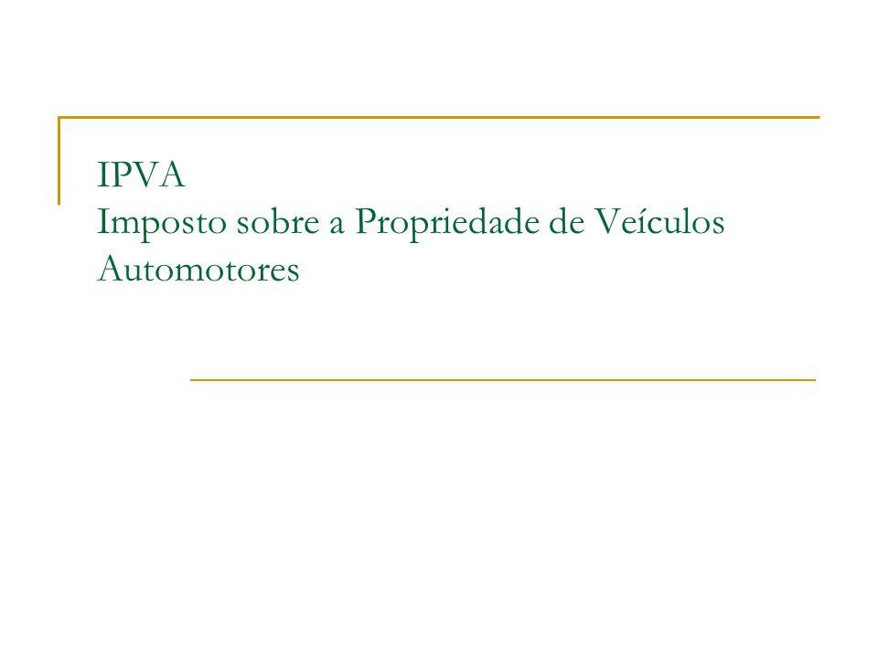 IPVA Imposto sobre a Propriedade de Veículos Automotores