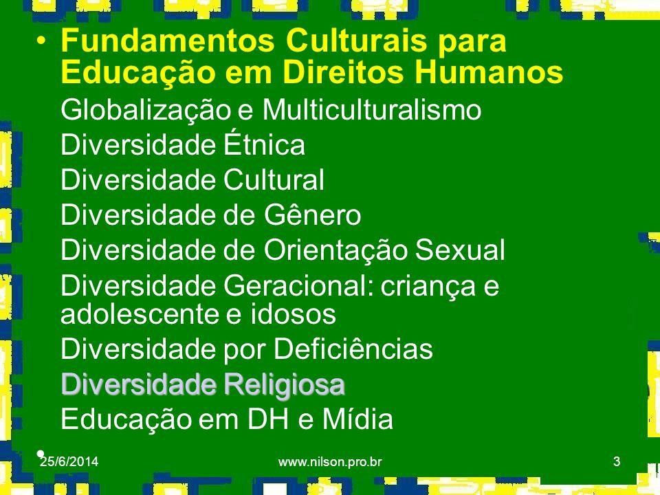 Fundamentos Culturais para Educação em Direitos Humanos