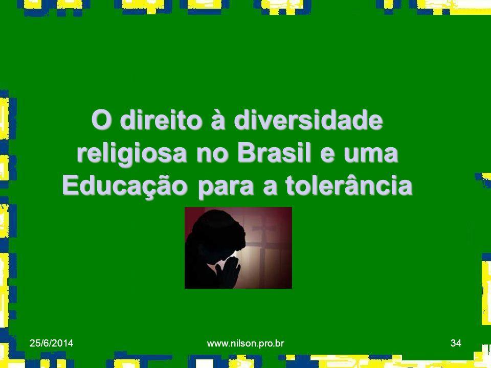 O direito à diversidade religiosa no Brasil e uma Educação para a tolerância