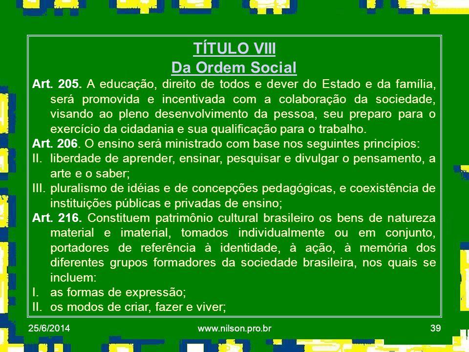 TÍTULO VIII Da Ordem Social
