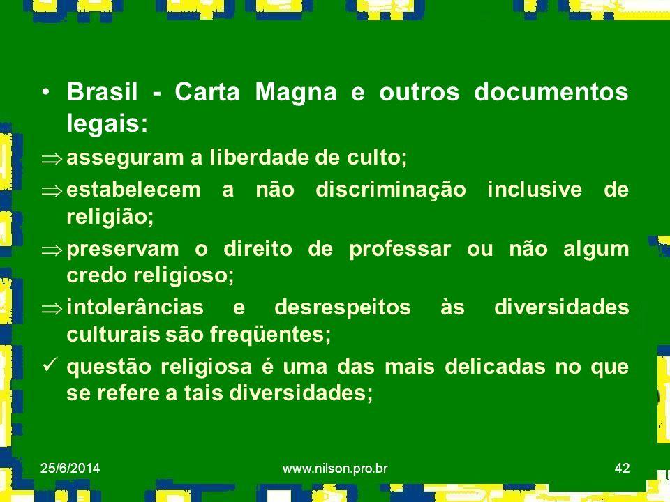Brasil - Carta Magna e outros documentos legais: