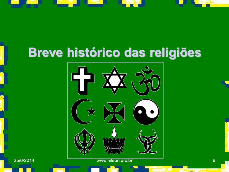 Breve histórico das religiões
