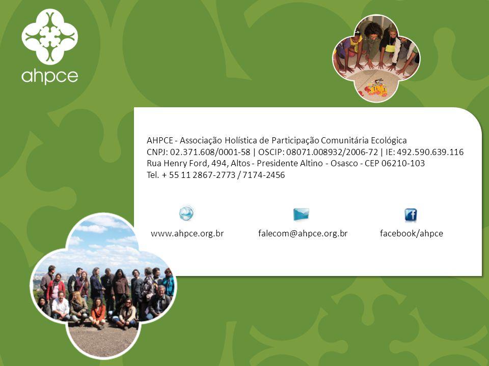 AHPCE - Associação Holística de Participação Comunitária Ecológica