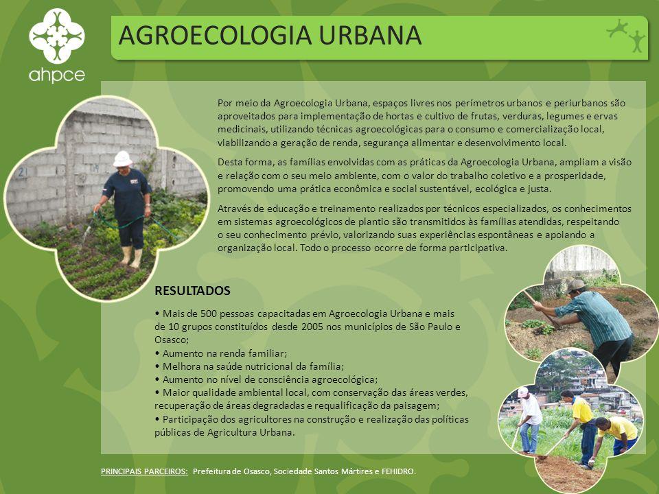 AGROECOLOGIA URBANA RESULTADOS