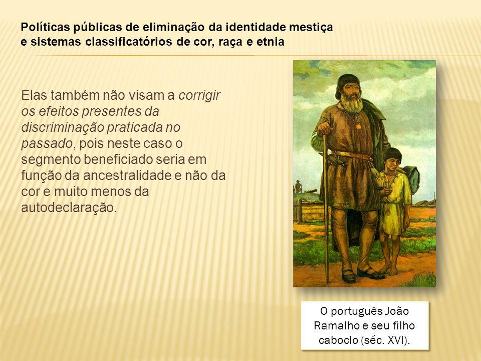 O português João Ramalho e seu filho caboclo (séc. XVI).