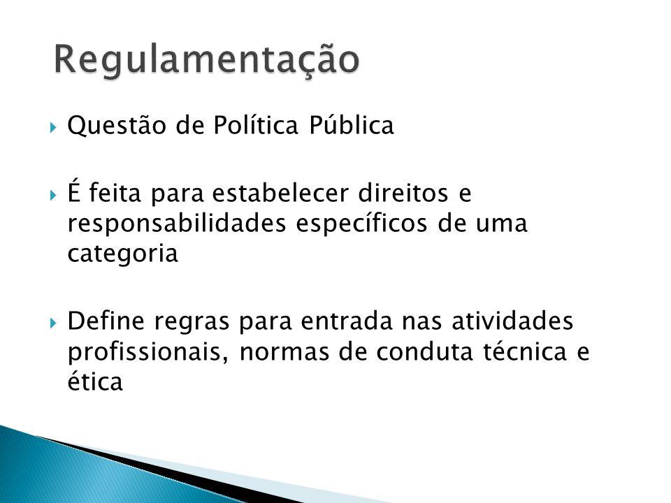 Regulamentação Questão de Política Pública