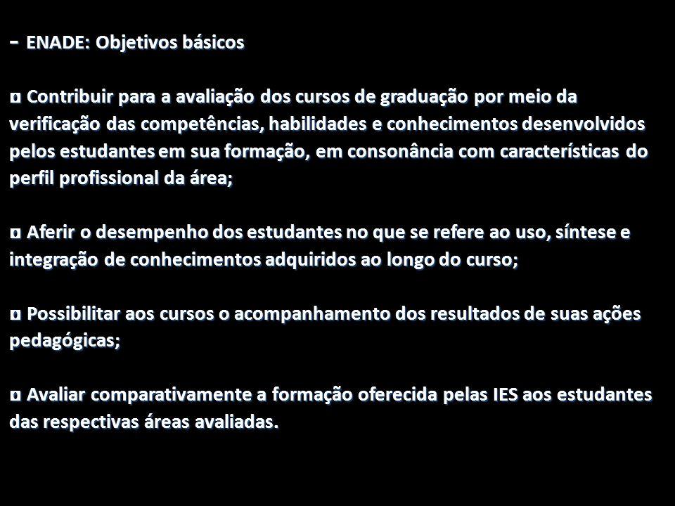 - ENADE: Objetivos básicos