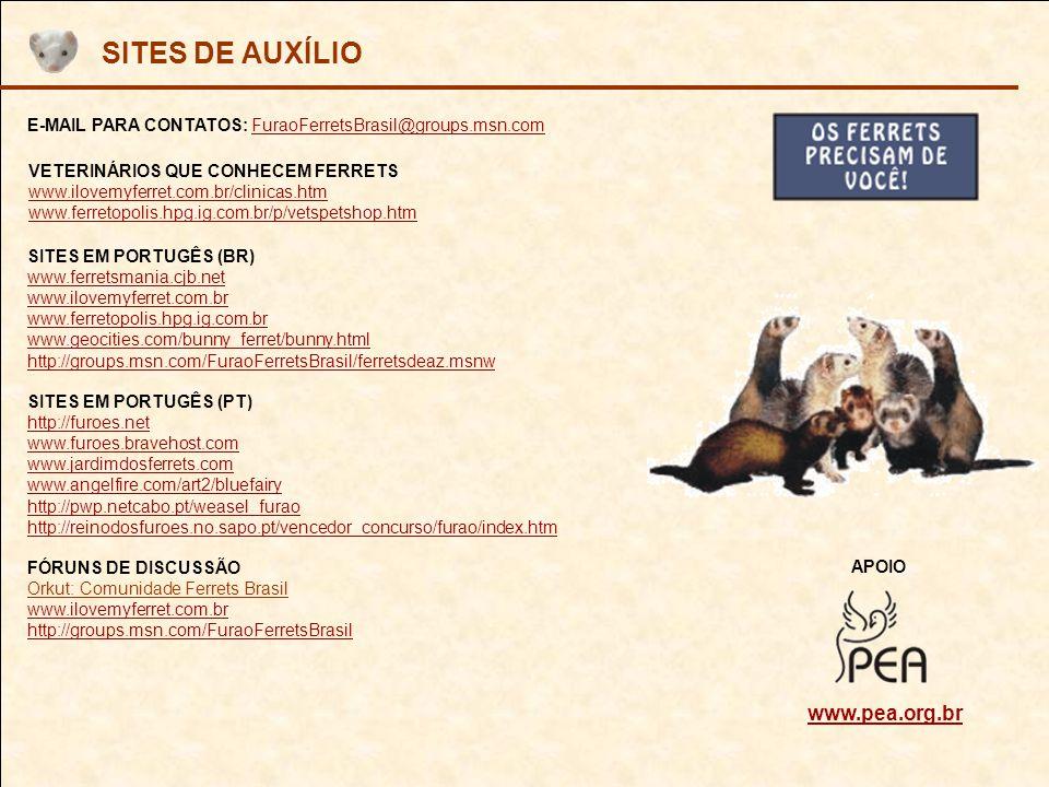 SITES DE AUXÍLIO www.pea.org.br