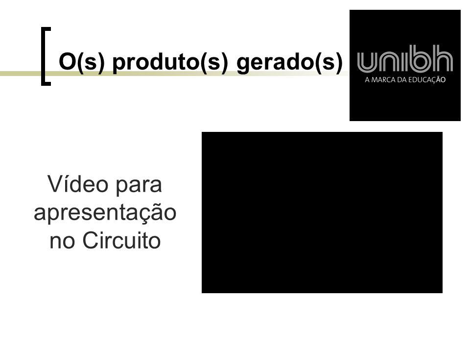 O(s) produto(s) gerado(s)
