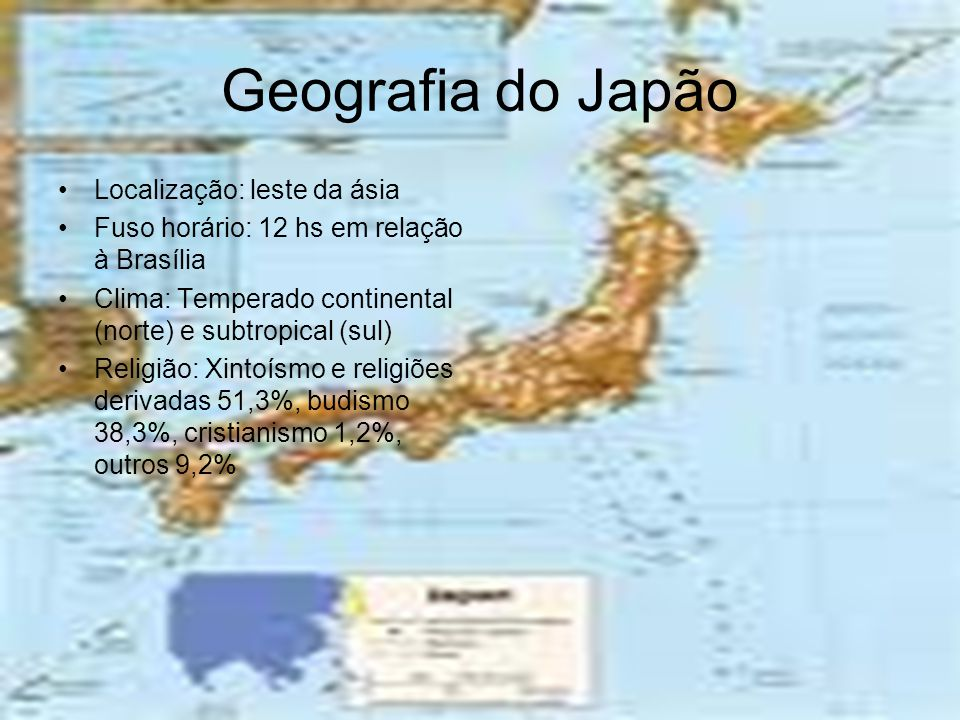 Geografia do Japão Localização: leste da ásia