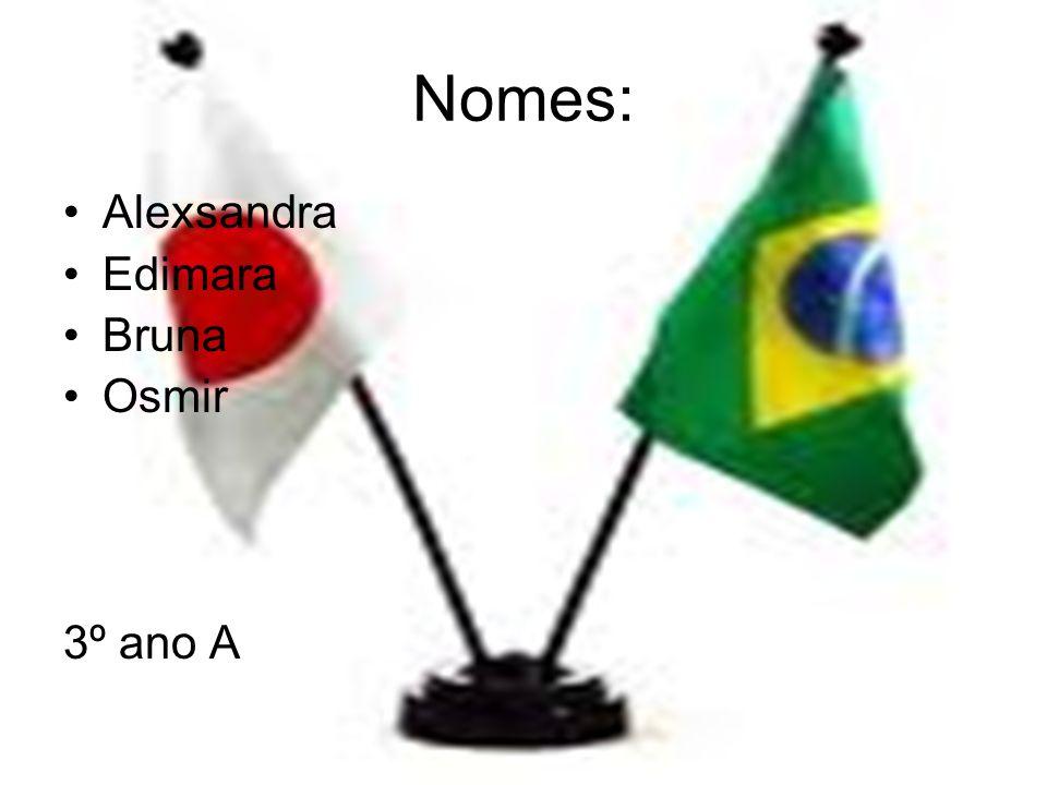 Nomes: Alexsandra Edimara Bruna Osmir 3º ano A