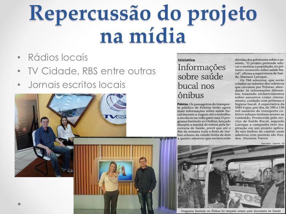 Repercussão do projeto na mídia
