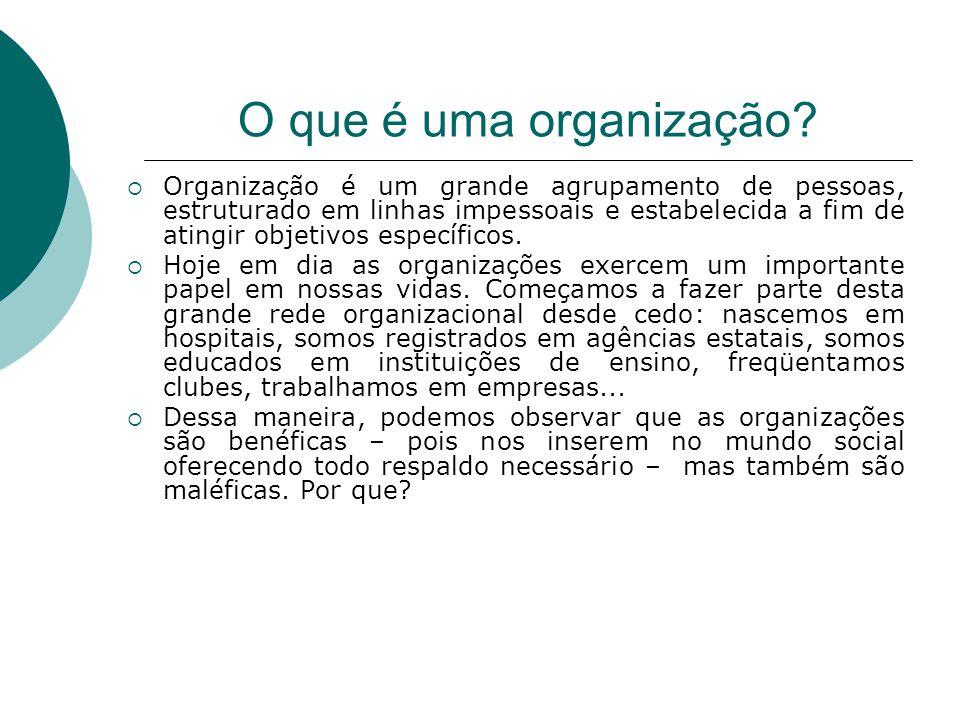 O que é uma organização