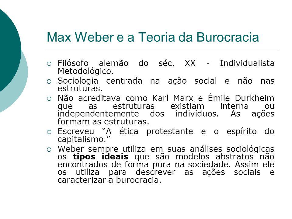 Max Weber e a Teoria da Burocracia