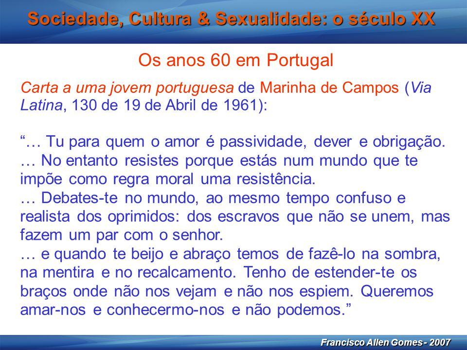 Sociedade, Cultura & Sexualidade: o século XX