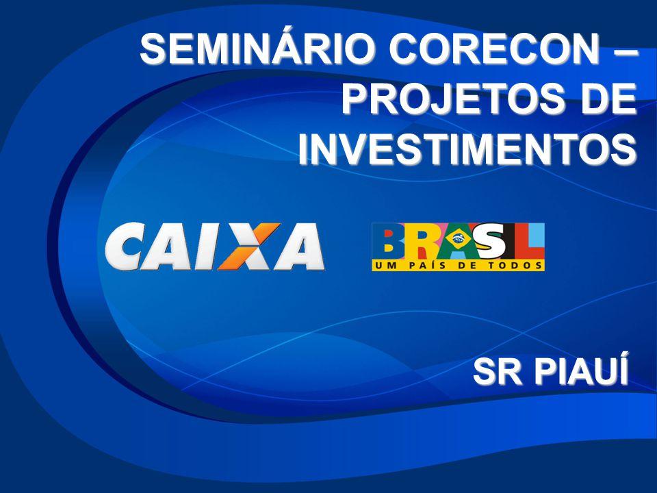 SEMINÁRIO CORECON – PROJETOS DE INVESTIMENTOS