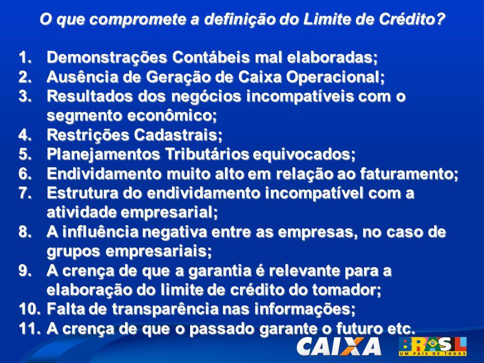 O que compromete a definição do Limite de Crédito
