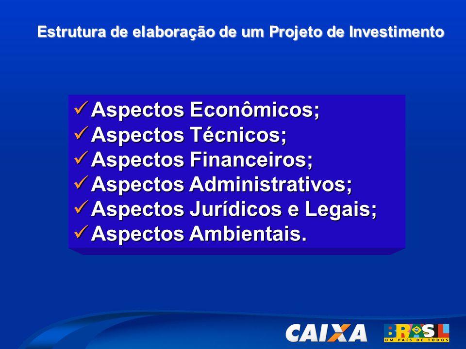 Aspectos Financeiros; Aspectos Administrativos;
