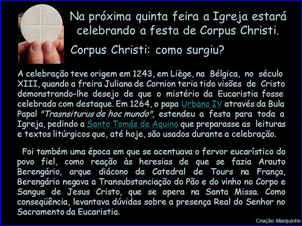 Corpus Christi: como surgiu