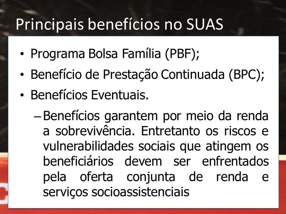 Principais benefícios no SUAS