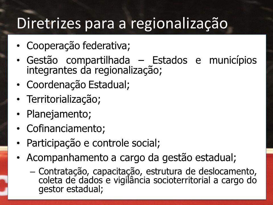 Diretrizes para a regionalização