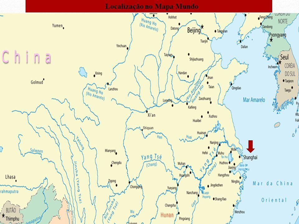 Localização no Mapa Mundo