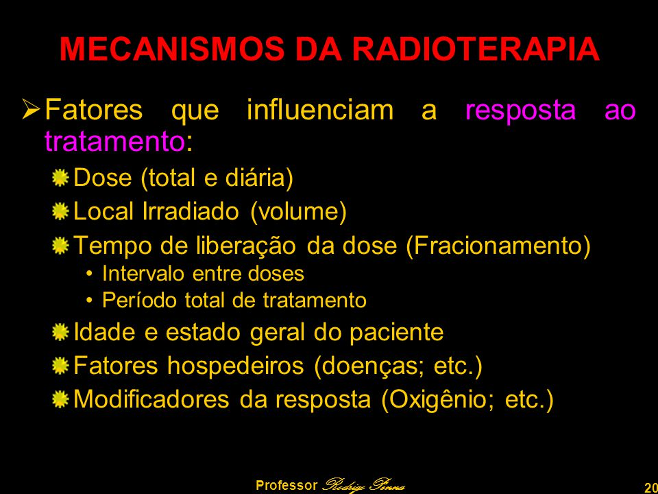 MECANISMOS DA RADIOTERAPIA