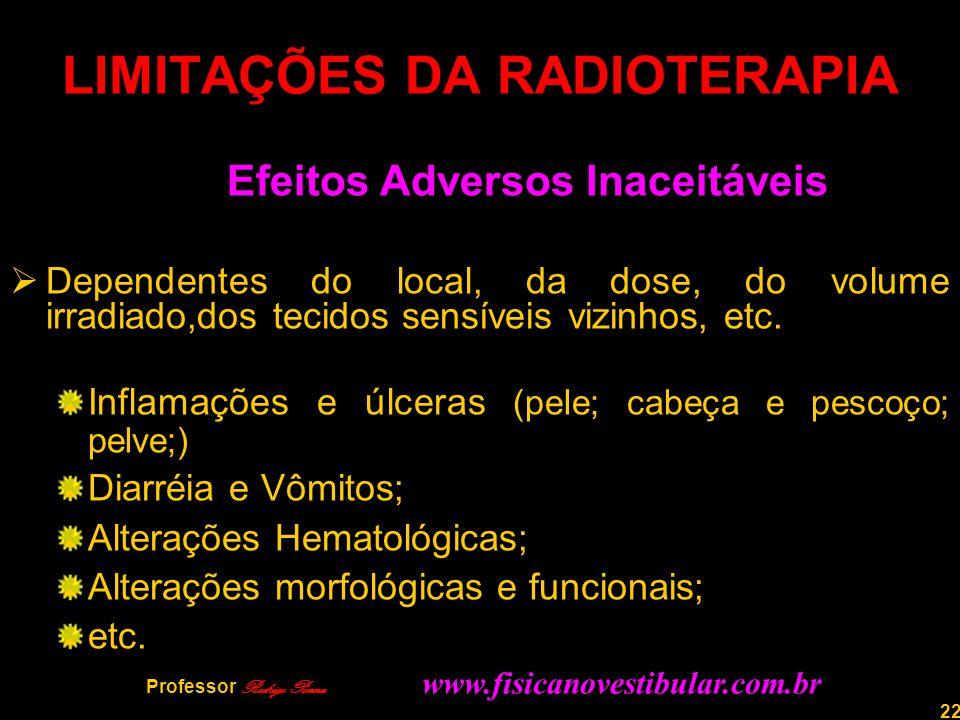 LIMITAÇÕES DA RADIOTERAPIA