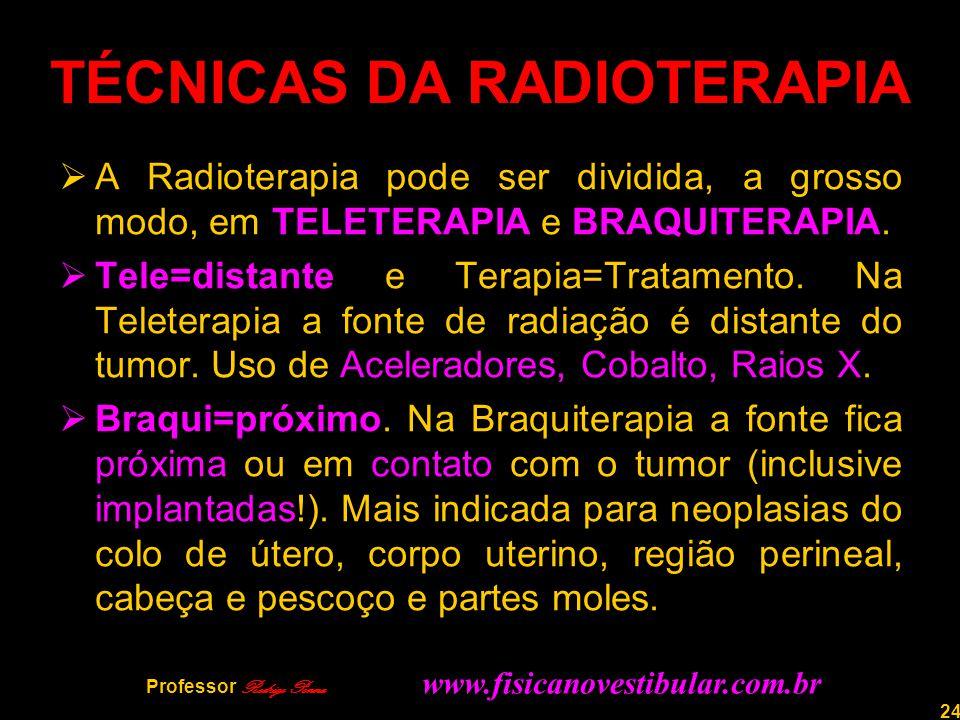TÉCNICAS DA RADIOTERAPIA